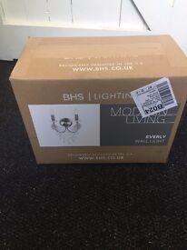 BHS WALL LIGHT- BRAND NEW 25£