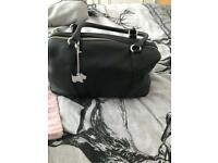 BLACK RADLEY HANDBAG AND DUSTBAG