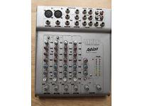 Ashton MXL 6-channel mic/line mixing desk (inc. cabling)