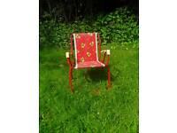 Sweet childs folding garden chair