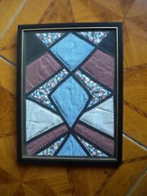 A WONDERFUL OLD EMBRODERY FRAMED 12X10 INCHES