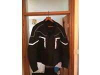 XL Black textile jacket never worn