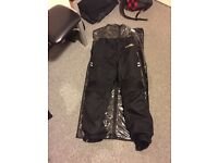 Motorcycle trousers medium and gloves