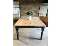 Rustic farmhouse kitchen dining table 8 seater