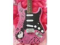 Jaxville pink designed electric guitar
