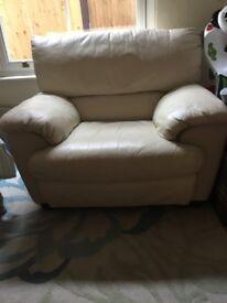Leather single seater sofa-Free