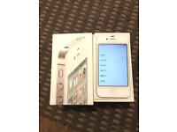 APPLE IPHONE 4S 16GB WHITE SILVER PHONE O2 NETWORK
