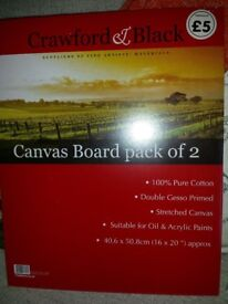 NEW - UNOPENED - 4 x Canvas boards