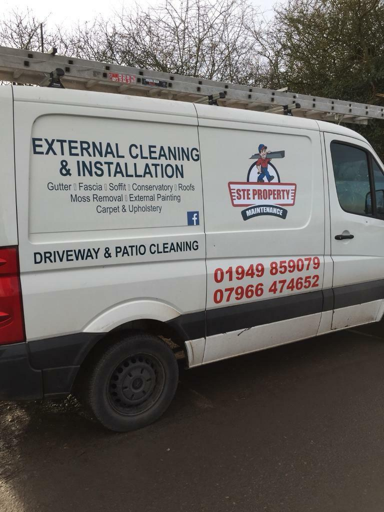 Gutter cleaning .Property maintenance . Fascia soffit gutter