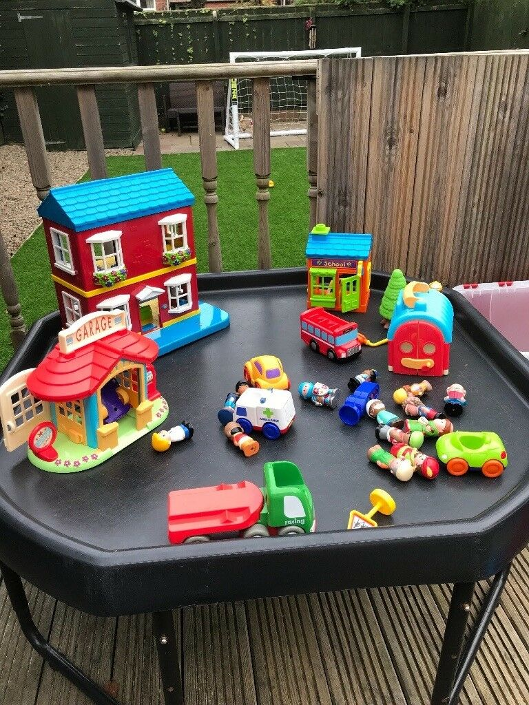 Job lot of happy land toys, vehicles and track