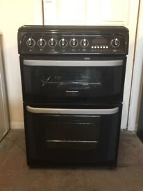 Cannon gas cooker 60cm black double oven 3 months warranty free local delivery!!!!!!