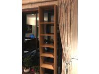 Tall oak effect Ikea shelving unit / bookcase