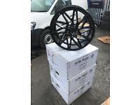 "4 18"" alloy wheels alloys rims tyre tyres audi seat Skoda Vw Volkswagen 112 pcd"