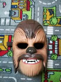 Chewbacca talking mask and star wars Chewbacca crossbow.