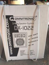 New Speaker- Omnitronic DX-1022 3-Way 400