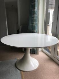 Dwell White Gloss Circular Dining Table