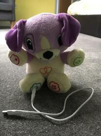 Violet leapfrog puppy