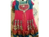 Pink indian/pakistani style frock size 16