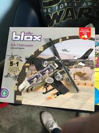 Wilko Blox 5 in 1 helicopter - Brand New