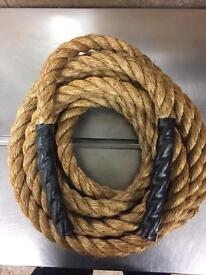 24mm battle rope x 10 metres, gym rope, exercise, fitness rope