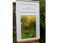 large Chabby chick mirror with cherubs