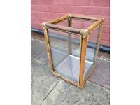 Bamboo Framed Glass Display Case/Box (Open Topped) - ONLY £5 - COLLECTION ONLY PLEASE