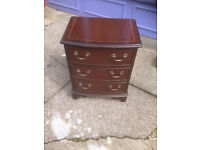 Striking Antique Mahogany Bow Front Chest of Drawers