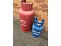 19kg and 7kg gas bottles used but have plenty of gas in both with regulator