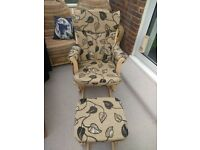 Dutailier Rocking / Gliding chair with footstall, Natural nursing / feeding, Nursery, Maternity