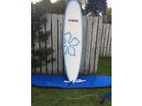 Cortez Funboard Surfboard, Hibiscus Blue - 7ft 4