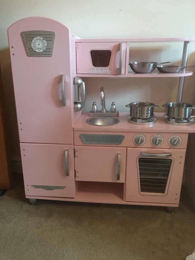 pink kidkraft toy kitchen | in milton, glasgow | gumtree