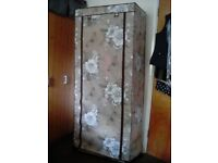 Fabric wardrobe, used for sale  Warwick, Warwickshire