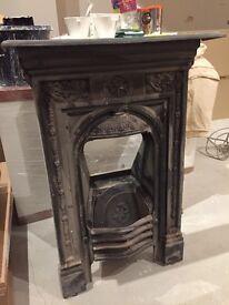 Original Victorian Fireplace.