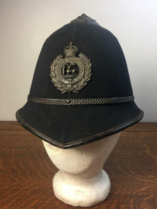 Antique Early 1900s Berkshire Constabulary English Bobby Police Hat Cap Christys