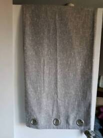GREY RING TOP CURTAINS