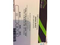 James Arthur Concert tickets O2 London 24/11