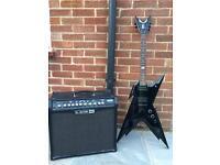 Dean Guitars Dime Razorback (black) & Line 6 Spider IV 75 watt amplifier
