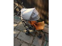 UPPAbaby G-LUXE Stroller Umbrella Single Seat Stroller Orange