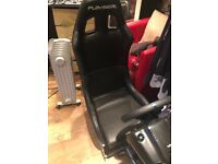 Brand New Racing Gaming chair, with steering wheel and pedals
