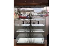 Large glass lighted display unit excellent condition £495 OnO