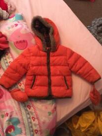 Boy coat & gloves
