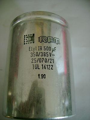 RFT Festkondensator Elyt IB 500µF 385V 25/070/21 TGL 14122 gebraucht kaufen  Chemnitz