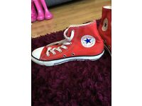 Red converse all stars