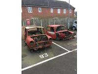 Classic mini rover Austin Morris breaking for parts