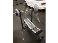 Maximuscle bench press and weights