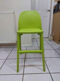 Ikea Urban Childs Junior Chair - Green - Ex Condition
