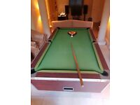 Pool Table (includes balls and cue)