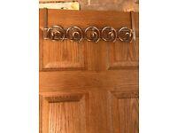 Metal over door hooks