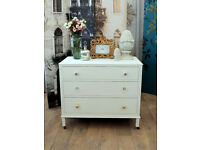 Shabby chic Edwardian chest of drawers