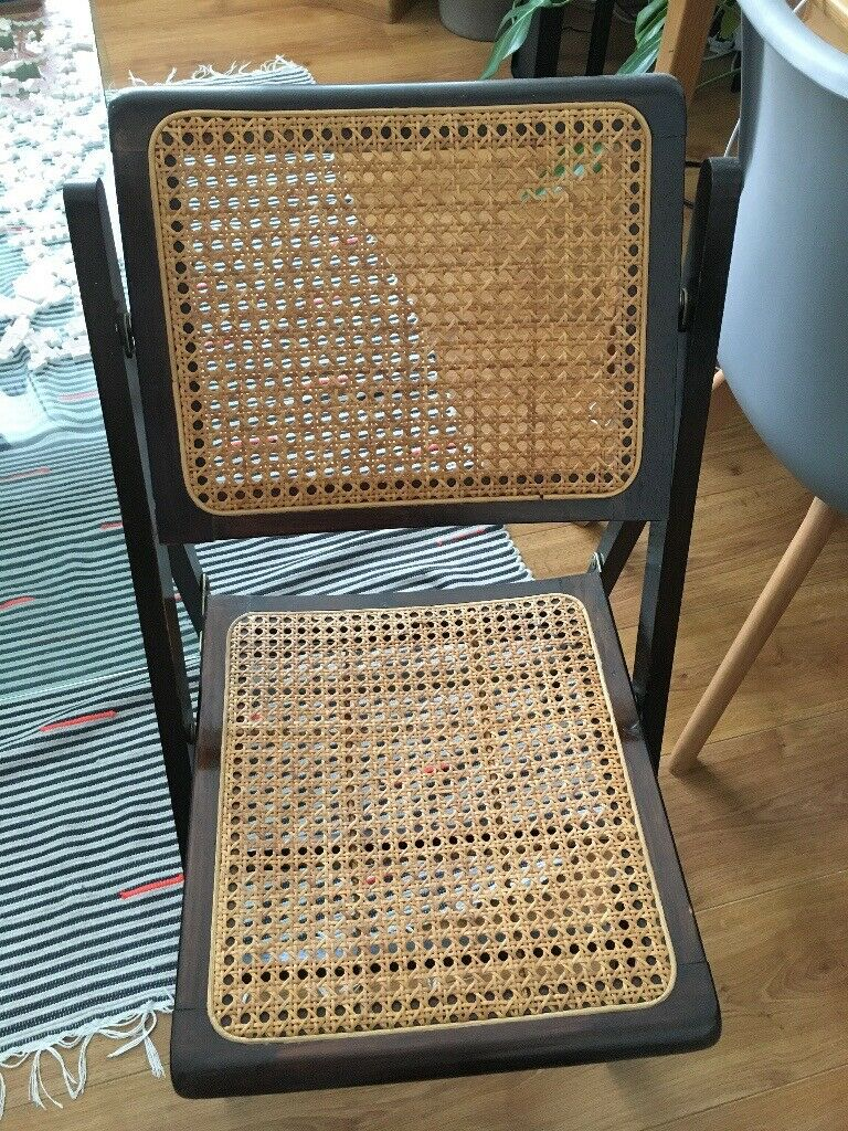 Mid Century Habitat Rattan Collectable Folding Chair In East Dulwich London Gumtree